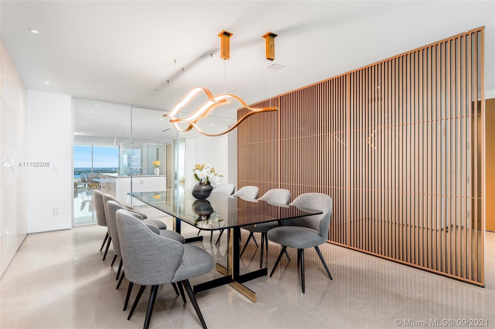 Located in prestigious Oceana Bal Harbour, this stunningly designed high floor flow-thru residence i