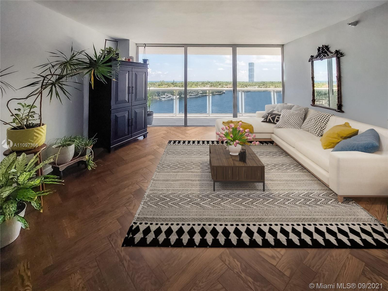 SPECTACULAR unobstructed wide open views of the intracoastal and Atlantic Ocean from huge 50 foot lo