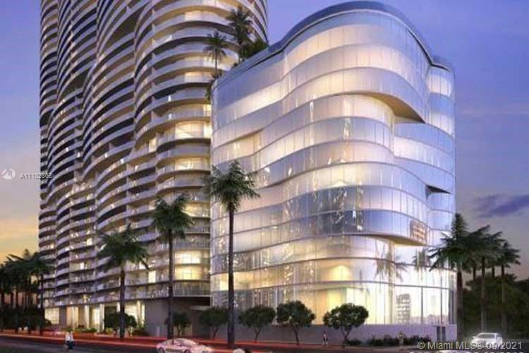 Amazing unit at the Aria on the Bay, a luxury high-rise development, modern 1 bed and 1.5 bath Tile