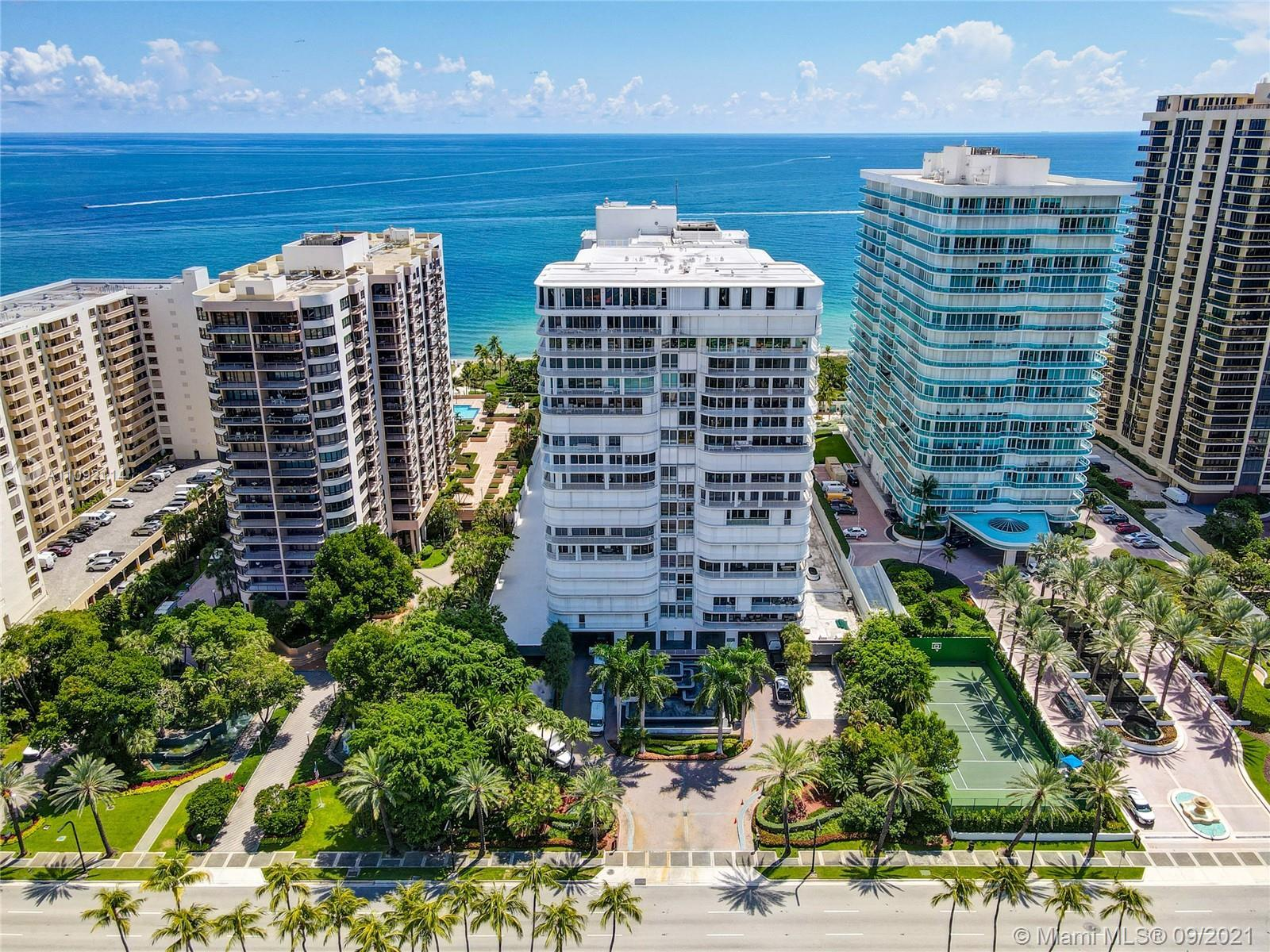 Enjoy both Ocean and City views from the lowest-priced 3 bedroom unit at the prestigious Bal Harbour