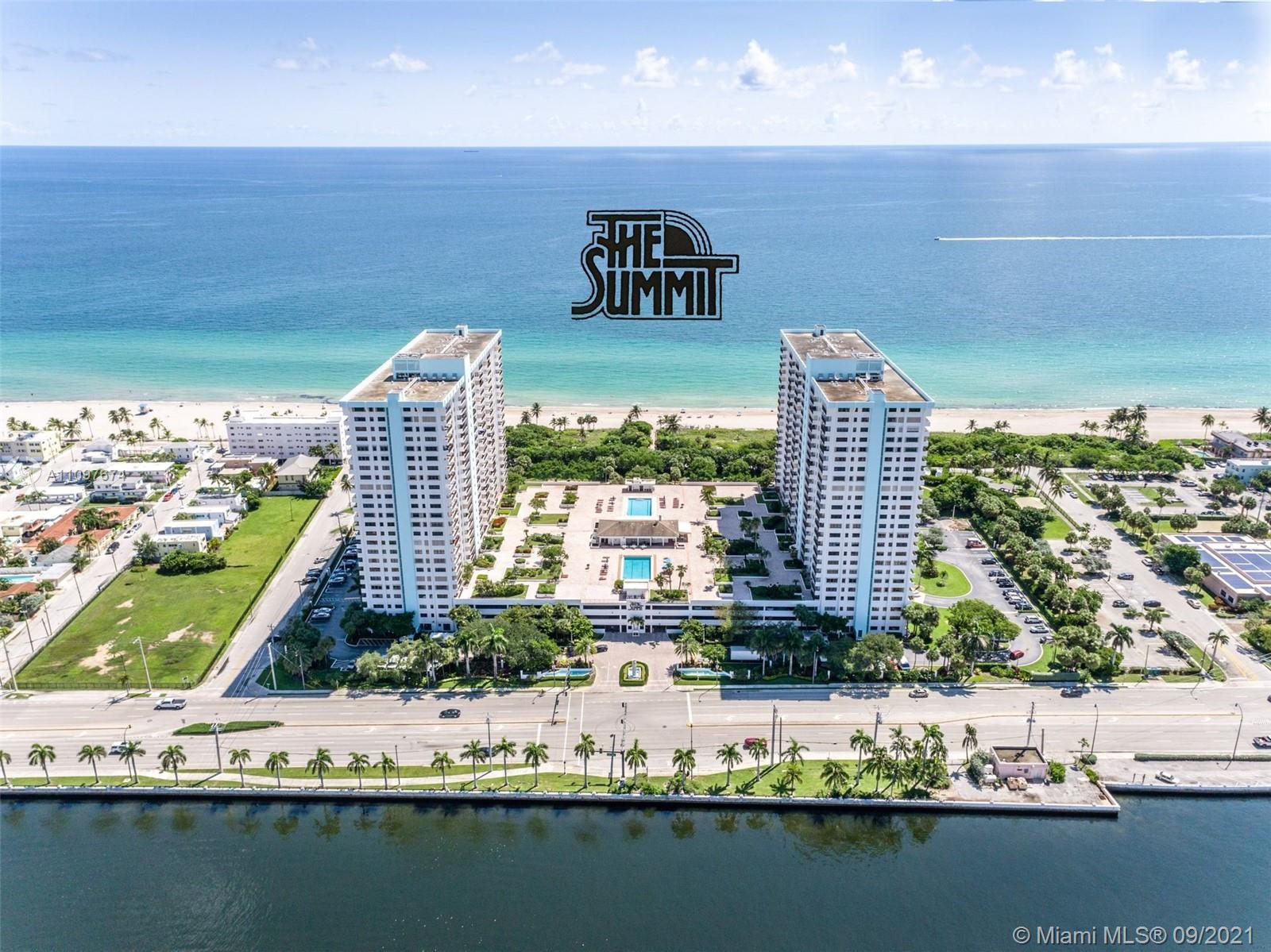 Bright & spacious 1,570sf 2 bed/2 bath split floor plan in The Summit. Spectacular ocean and Intraco