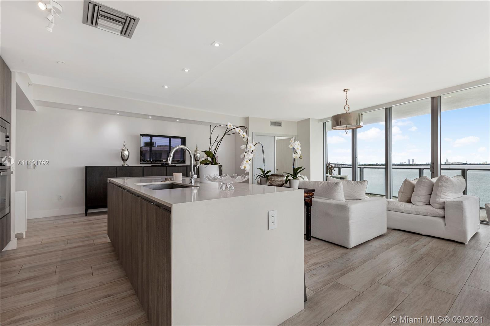 Spectacular direct water views from this Spacious Podium low floor unit at Biscayne Beach. Unit has
