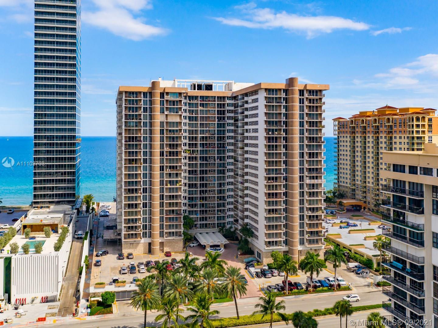 This stunning direct ocean view (best line in the bldg) corner unit is a must see! This 2 bedroom 2