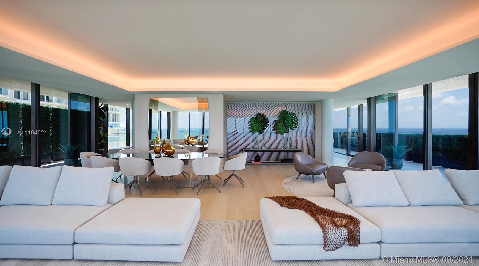 ARTE a boutique collection of 16 oceanfront residences by Citterio & Viel. Lower Penthouse comprises