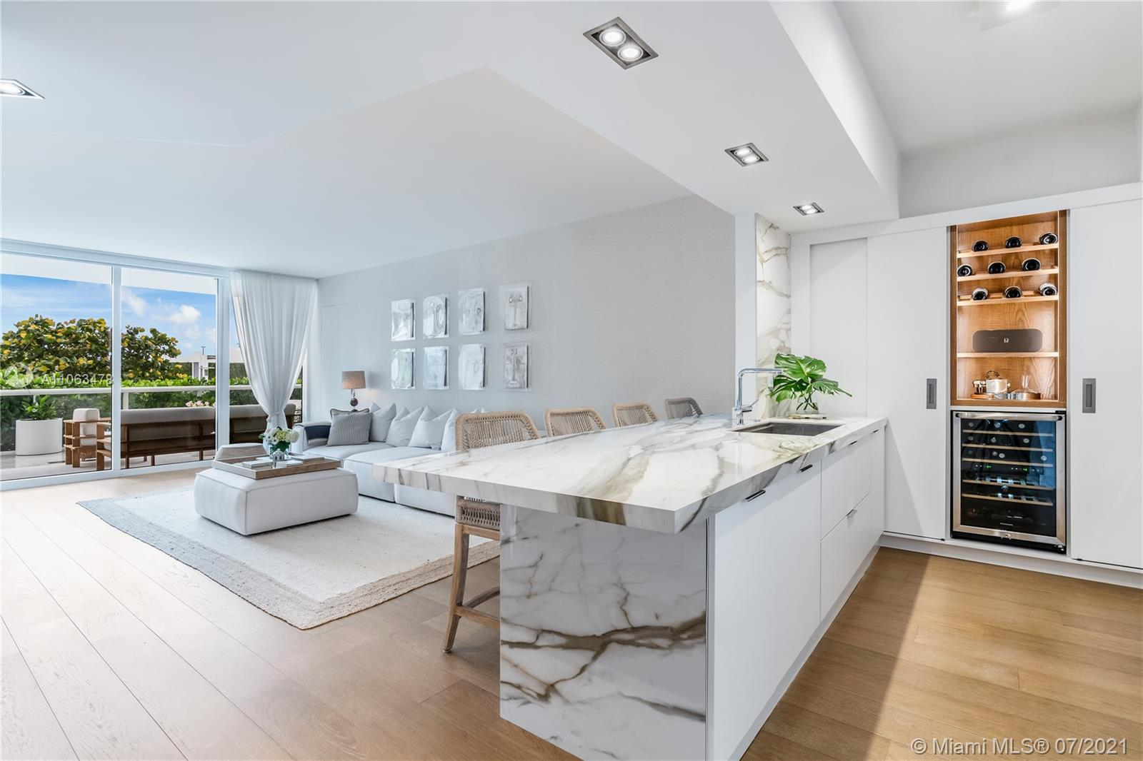 Newly Renovated 2021, modern Lanai residence offering unique 04-line floor plan in the heart of SoFi