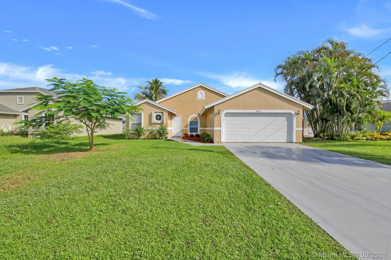 This well maintained 3 bedroom, 2 bath home has a lot to offer. 2017 A/C and 2021 Roof. The large li