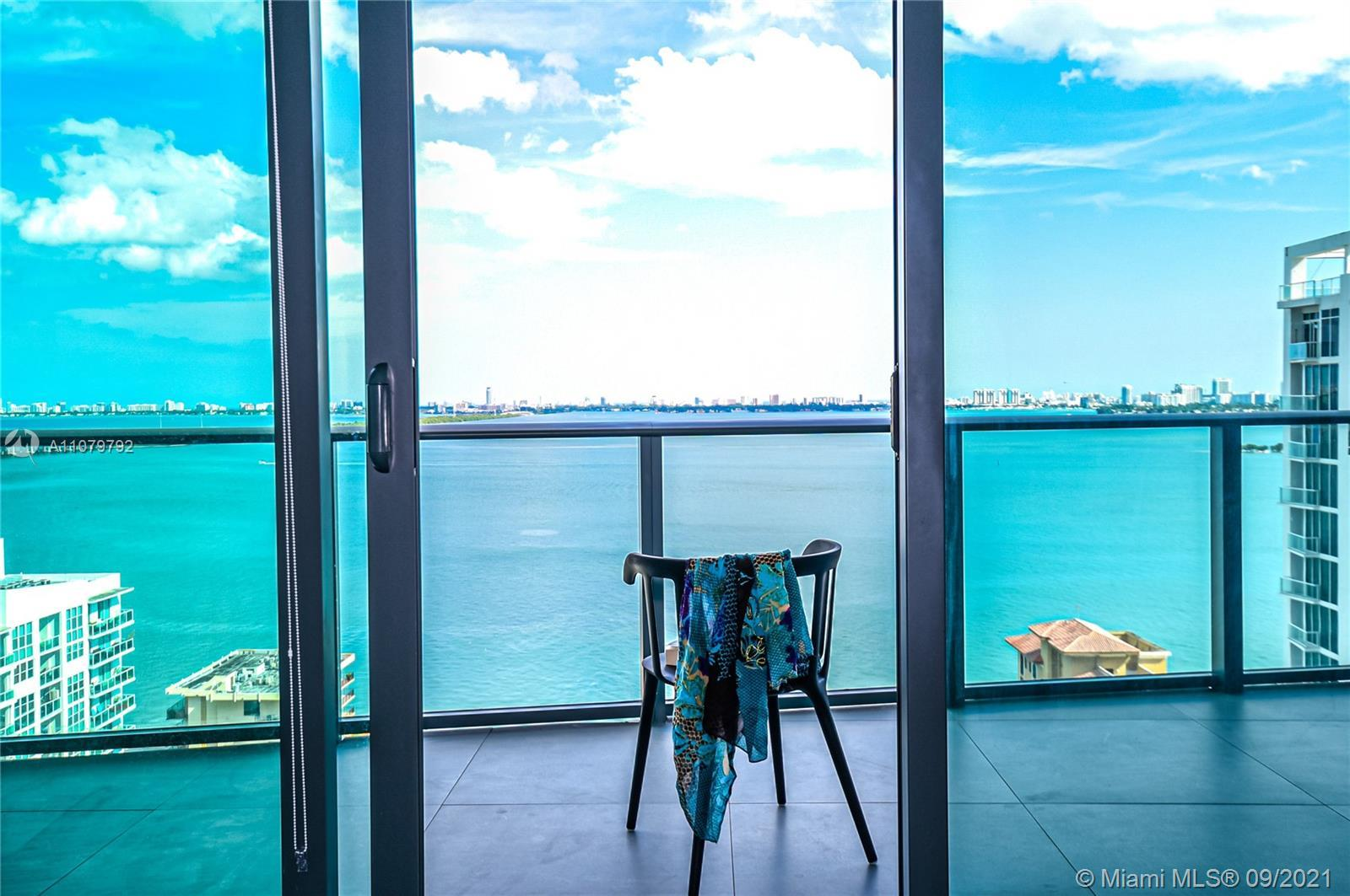Dazzling Bay view. Direct Bayfront 2 bedroom, 2 bath condo. Unit features a private elevator with a
