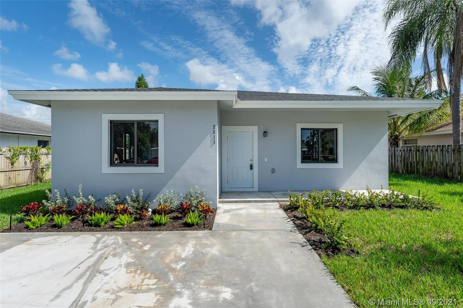 BRAND NEW CONSTRUCTION. 4 bedroom 2 bathroom Single family home in Fort Lauderdale is READY for you