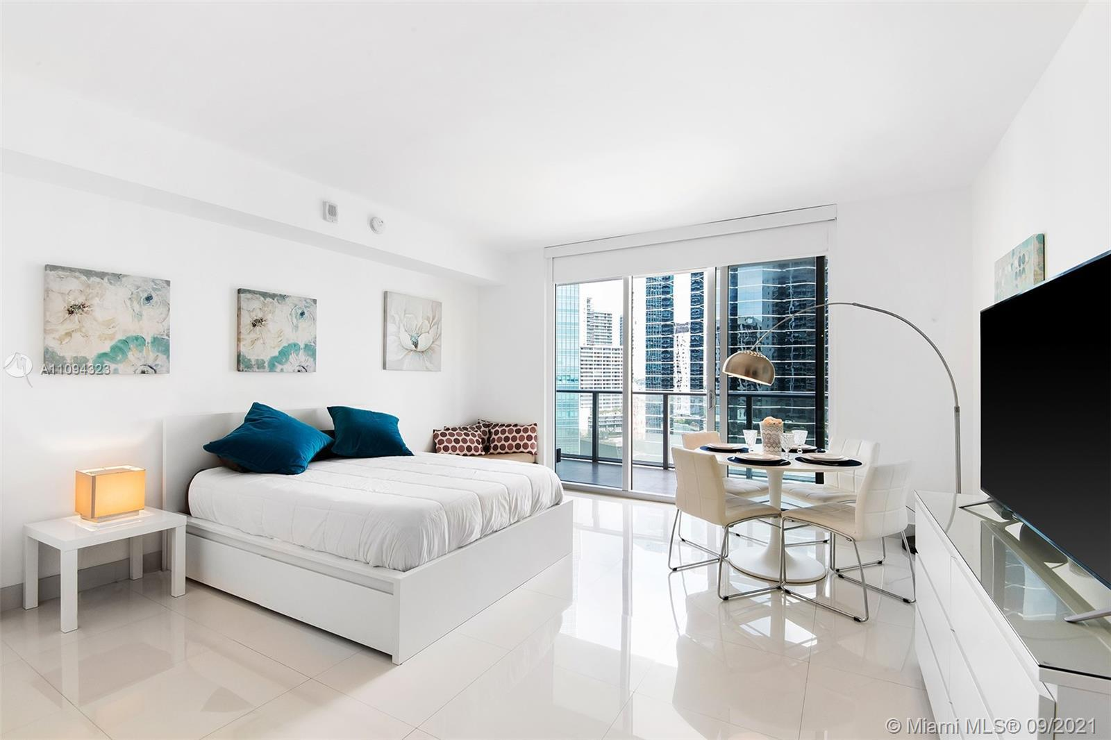 Look no further for the perfect investment! Beautiful Studio with floor-to-ceiling windows overlooki
