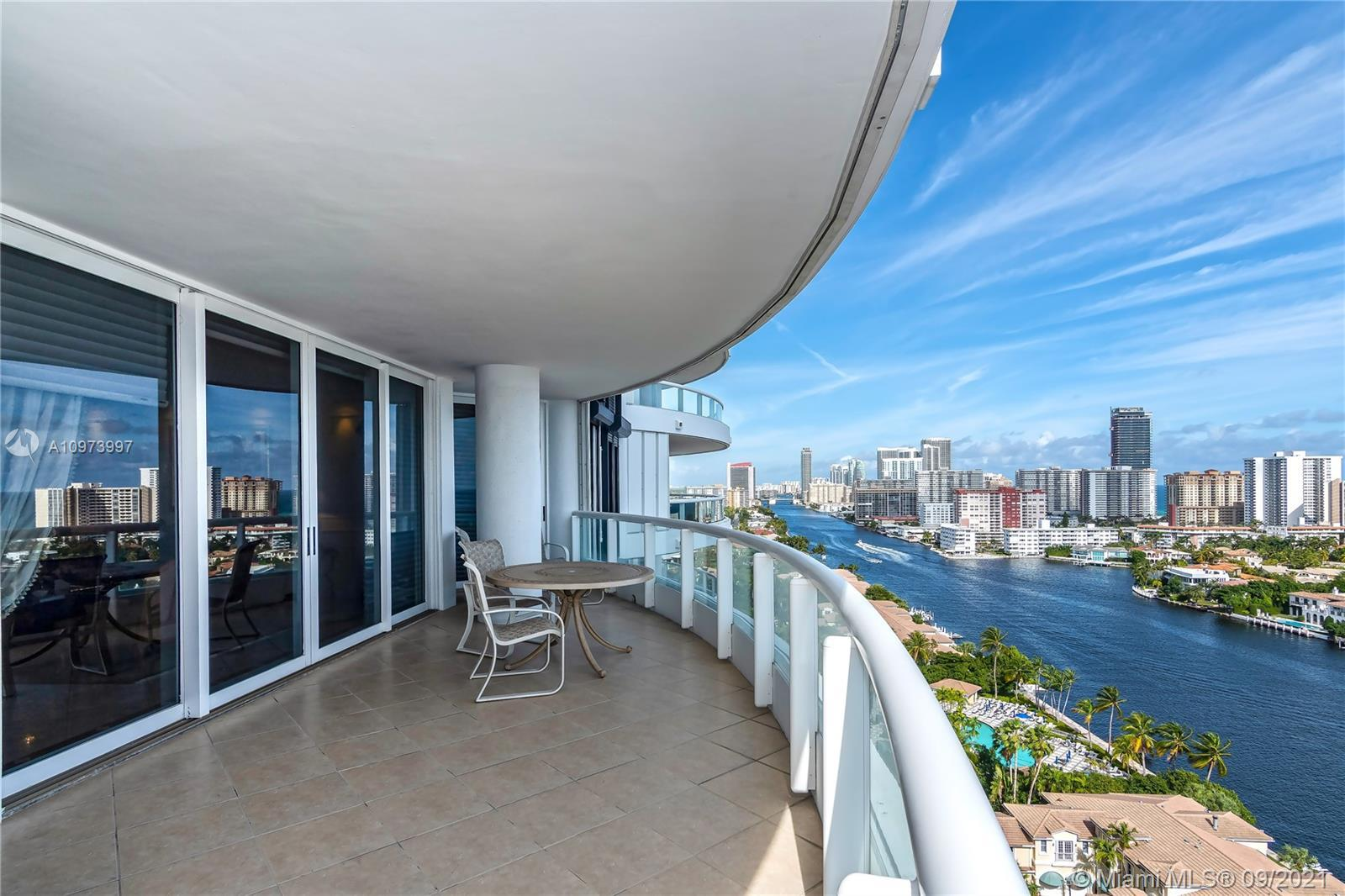 AMAZING panoramic views of direct Ocean, intracoastal and skyline from this Corner unit located on t