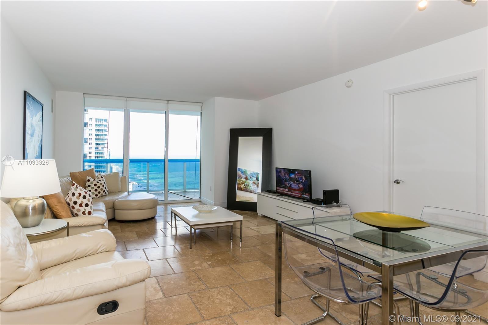 Stunning ocean & Intracoastal views. 1 Bed +Den/ 2baths. 1,337 sq. ft. plus 198 sq. ft. balcony. Ita