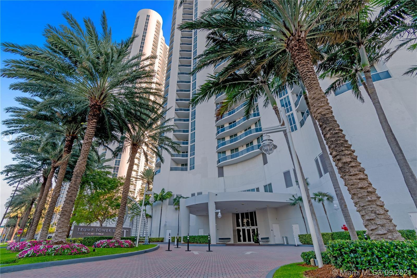 3-bedroom/3.5-bathroom apartment in Trump Tower Sunny Isles Beach. Features a private elevator entra