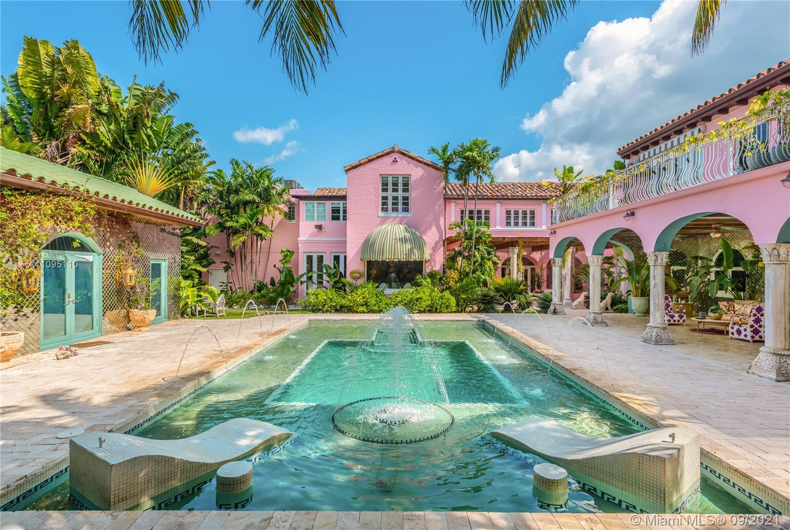 This classic Mediterranean Revival estate was meticulously restored and updated by Ximena Caminos, a