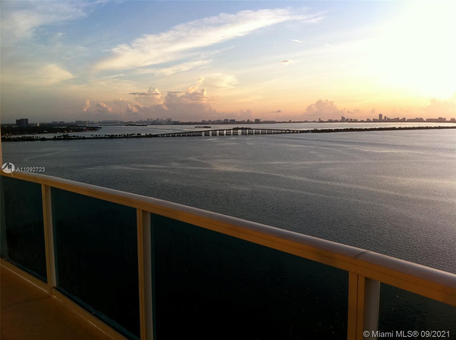 Enjoy unobstructed, direct Water Views from this oversized terrace! The beautiful 1 Bedroom/ 1 Bath