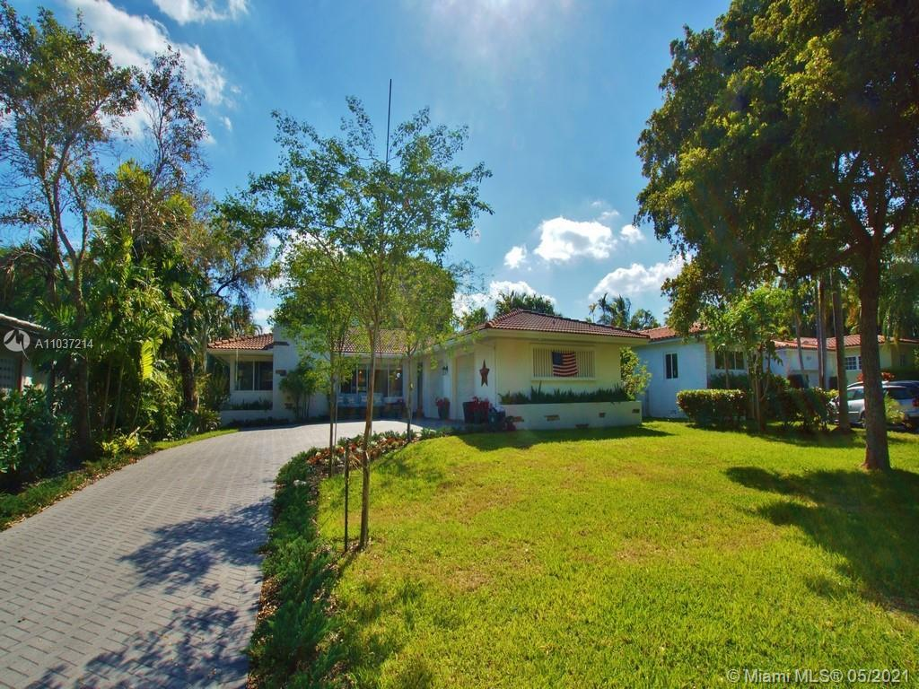 Location, location, location!  This classic MIMO style Miami Shores ranch is 2,158 Sf and has the ul