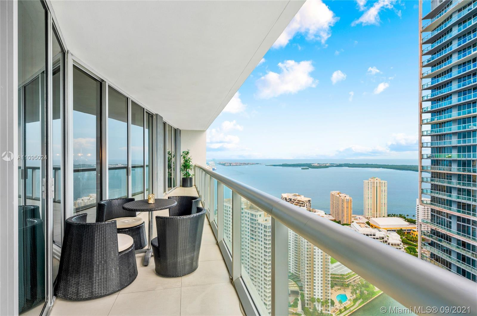 Breathtaking Bay & Pool Views 2 Beds / 2 Baths + Den/Office Modern Condo with private balcony in ICO