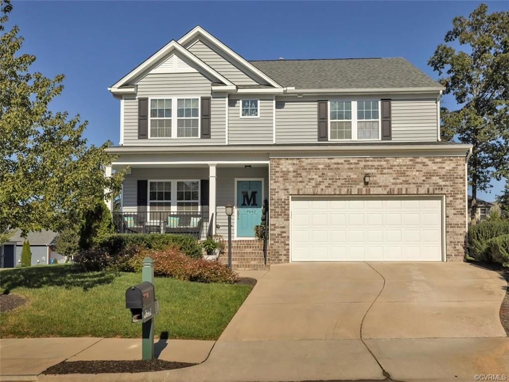 Award-winning, golf course community of Magnolia Green. This is a corner lot with a 2 car garage and covered front porch. Enter into a foyer and a flex room that can be used in a variety of ways. Spacioius Kitchen and Family Room are located on the rear of the home and flow together for easy entertaining with a beautiful dining area behind the great room. Out the kitchen door presents a nice patio with a stone fire pit for relaxing evenings. Upstairs has a large open loft area and 3 bedrooms. The primary bedroom offers 2 large walk in closets and a large bath with double vanity. A full bath and laundry room complete the 2nd floor. Magnolia Green offers homeowners an active lifestyle with an 18 hole golf course, walking paths, pool & playgrounds. Come Live/Play and enjoy this beautiful planned community!