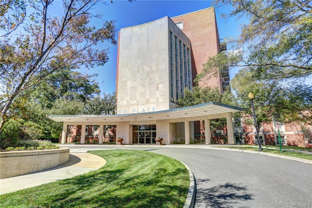 Wonderful 2 bed/2 bath in the coveted Ginter Place Condos!  Spacious open floor plan with soaring ce