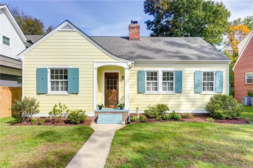 Absolutely adorable home nestled on a wonderful block of W. Franklin St. offers much charm! Nice sit
