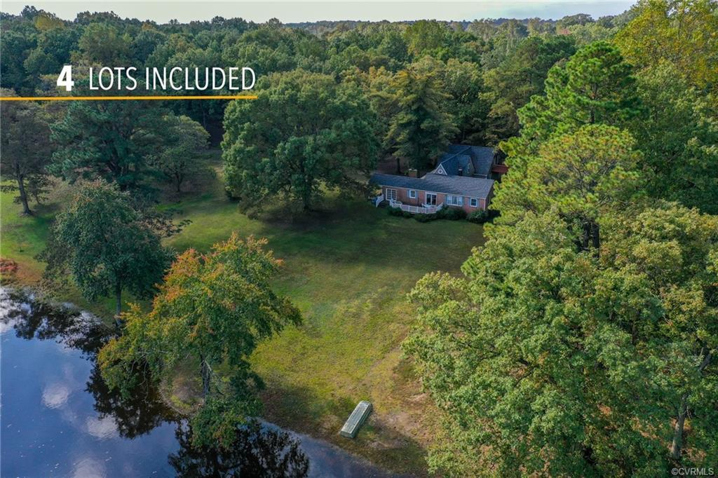 Lovely, waterfront home in Montpelier on 11.96 acres! Features include beautiful hardwoods throughou