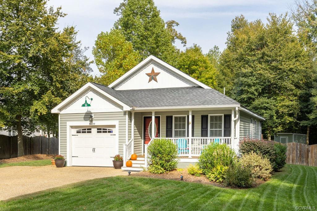 This charming craftsman style home is tucked away on a quiet cul de sac and is conveniently a short