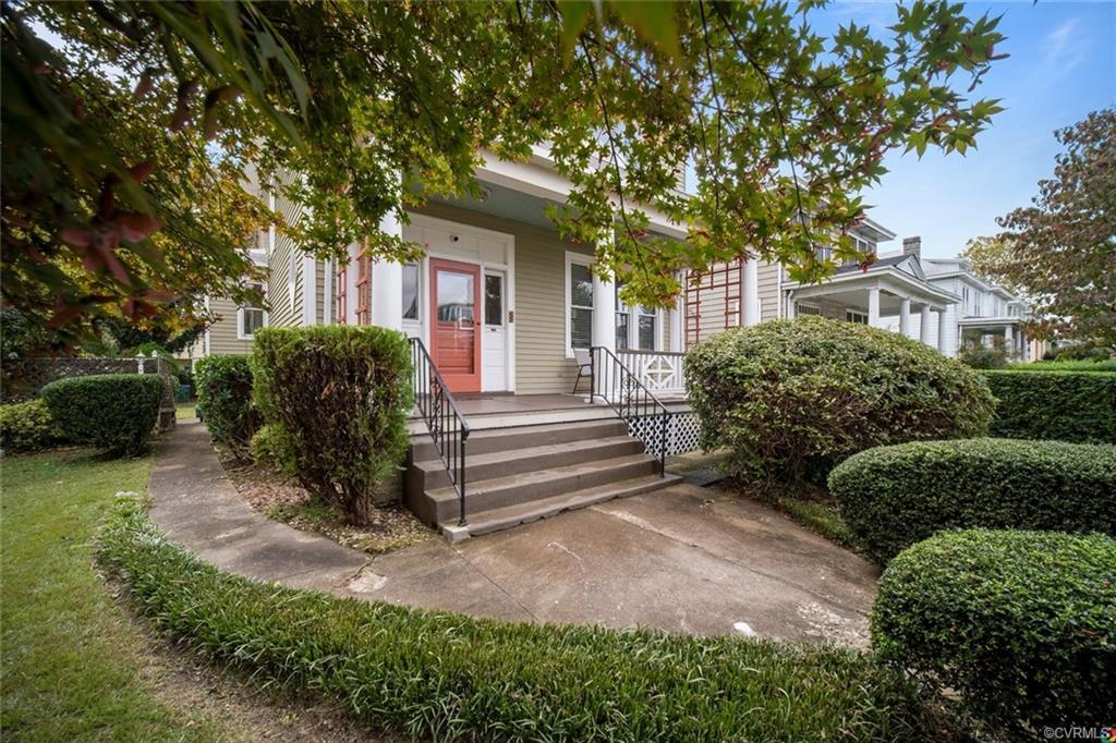 As you walk up to 111 W Lancaster Rd you are greeted with mature plantings, landscaping and a full c