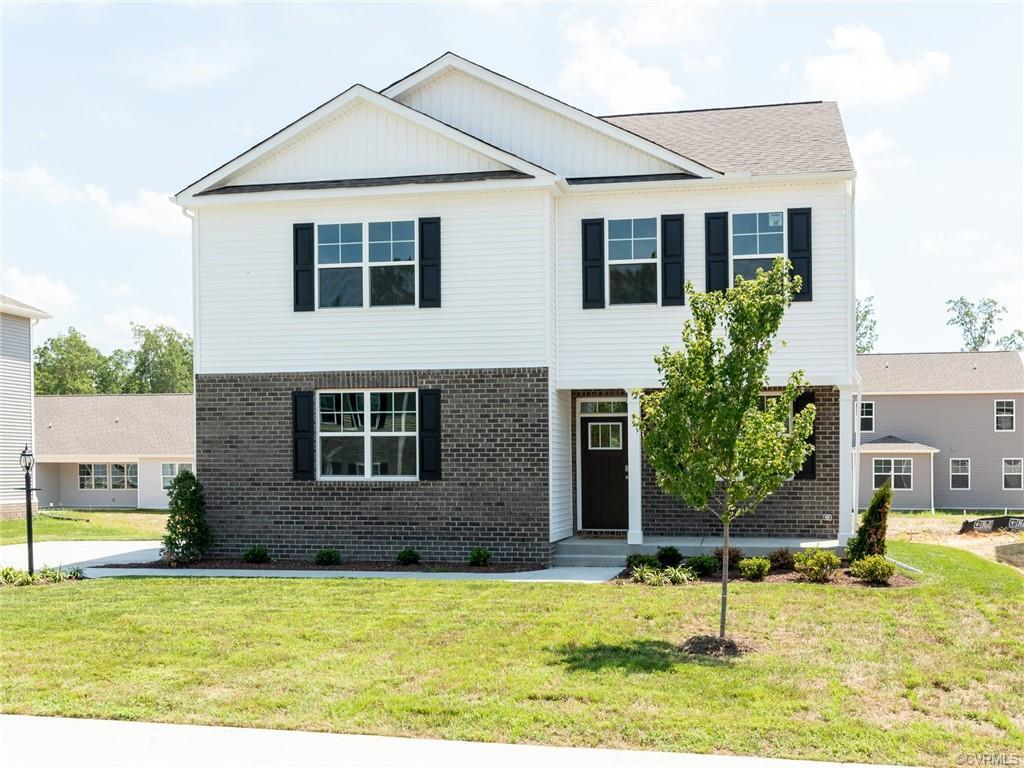 The Penwell is a two-story plan with 3 bedrooms and 2.5 bathrooms in 2,164 square feet. The main lev