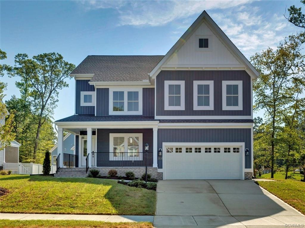 The Winchester Plan is our most spacious 4 Bedroom with Loft. You are going to love the front porch-
