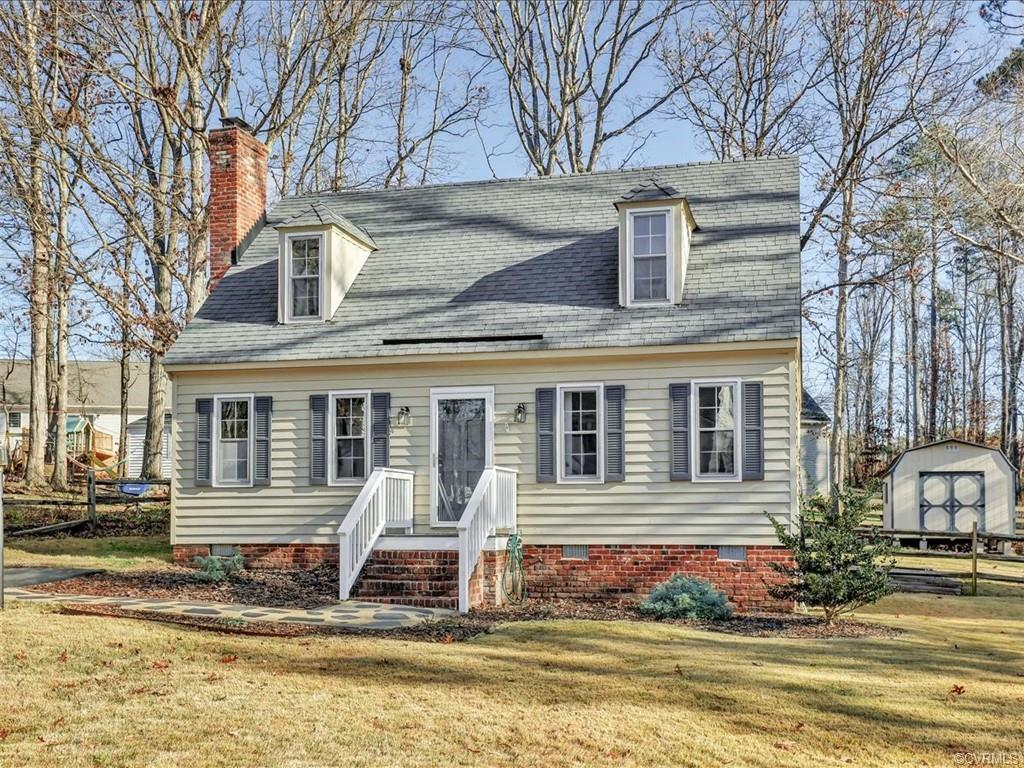 This attractive Cape Cod, w/newly painted interior, 5 year young dimensional roof & freshly landscap