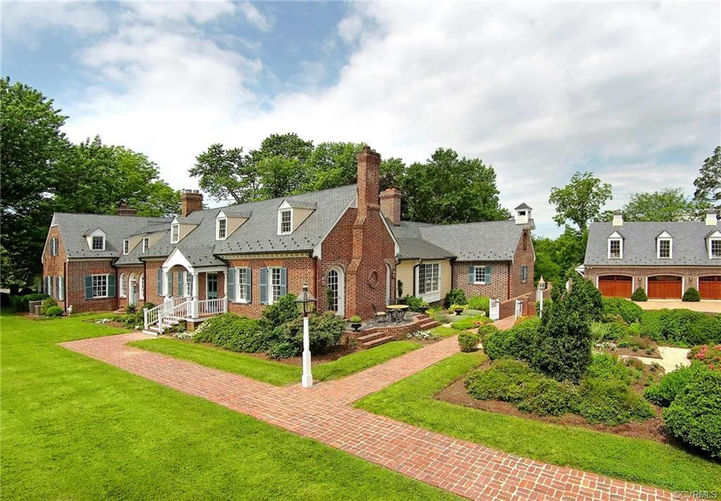 """Beautifully renovated and improved, the circa 1787 historic """"Rolling View"""" home sits on over 14 acre"""