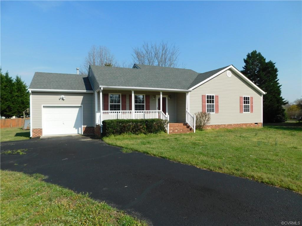 Move -In Ready.  One level living!! This Ranch style home offers 3 large bedrooms (all with New Carp