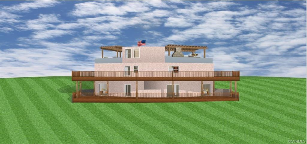 To be built...Custom, poured concrete home with open floorplan and wonderful use of space, including