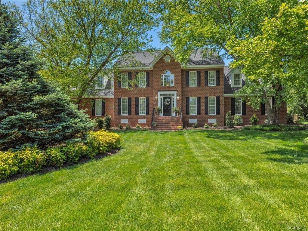 Classic Brick Colonial Home with 3.5 Car Garage and unique 1st Floor Master Bedroom design!  Two Story Foyer with Palladian Window & 2nd Floor Loft Area!  Formal Living & Dining Rooms with Wood Floors!  23 x 16 Open Kitchen, Granite Counters with Peninsula/Bar Overhang, Custom Raised Panel Cabinets, Ceramic Tile Backsplash, Stainless Steel Appliances, Gas Range, 13.6 x 12 Breakfast Area with Walk-out Bay Window, opens to 20' Family Room with Gas Fireplace!  Oversize 21' First Floor Master Bedroom Suite with Walk-in Closet and spacious Ceramic Tile Master Bathroom with Large shower, plus large Tub with Palladian Window above!  5 total Bedrooms, plus the 23 x 18 Rec Room above the 3.5 Car Garage!  Quiet Cul de Sac location, Paved Aggregate Concrete Driveway with a 42 x 30 Parking Pad!   Welcoming outdoor spaces with a 16 x 15 Deck(New in 2020) stepping down to a 22 x 17 Paver Patio! Beautifully Refinished Wood Floors in 2020! New Carpet on the 2nd Floor in 2020! New Paint throughout!  New 50 Year Ashphalt Roof in 2013! New 2 Zone Gas HVAC in 2016 & 2017!  New Gas Water Heater in 2017!  Walking distance to Maybeury Elementary, Collegiate, Avalon Pool & Tennis, and Tuckahoe YMCA.