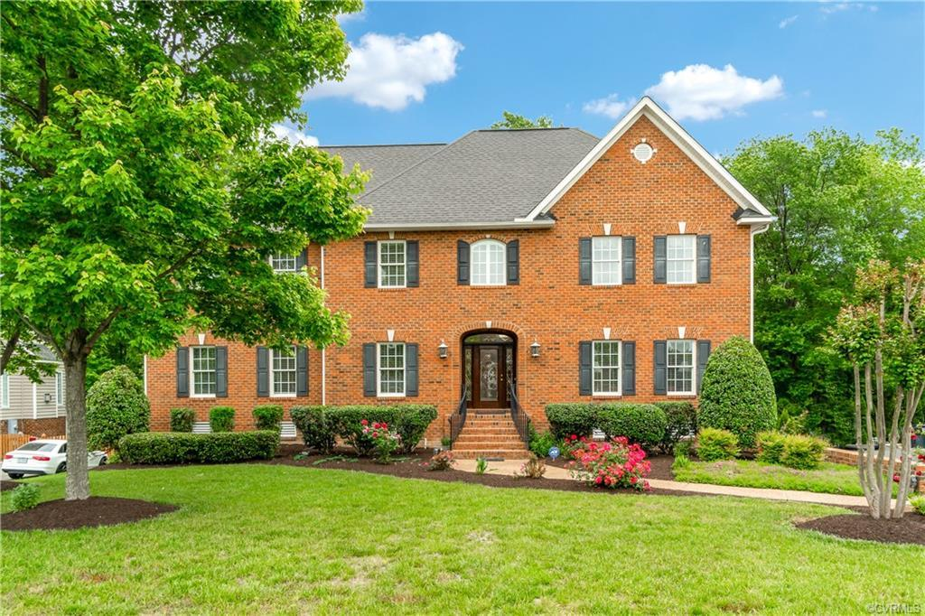 Custom brick-front colonial in the Deep Run High district has a fantastic location within the Coving