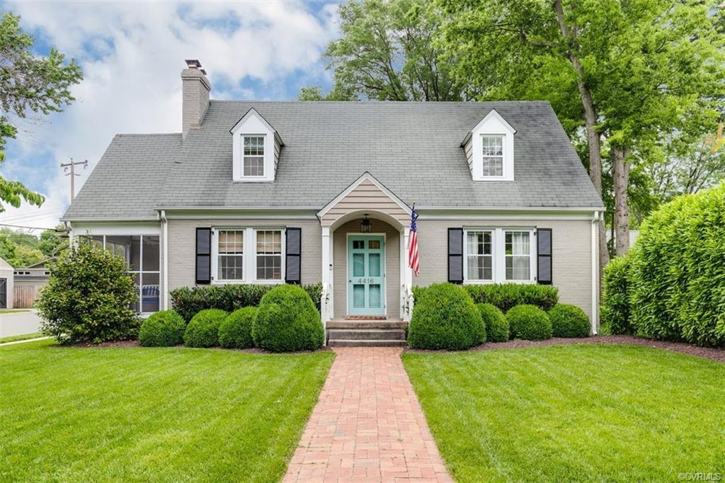 Pristine Cape on lush corner lot along a great block in the Mary Munford area. Charming, freshly pai