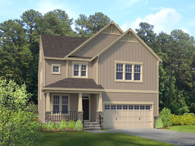 HOME IS NOT BUILT - The open layout from family room to kitchen to dining area provides the perfect