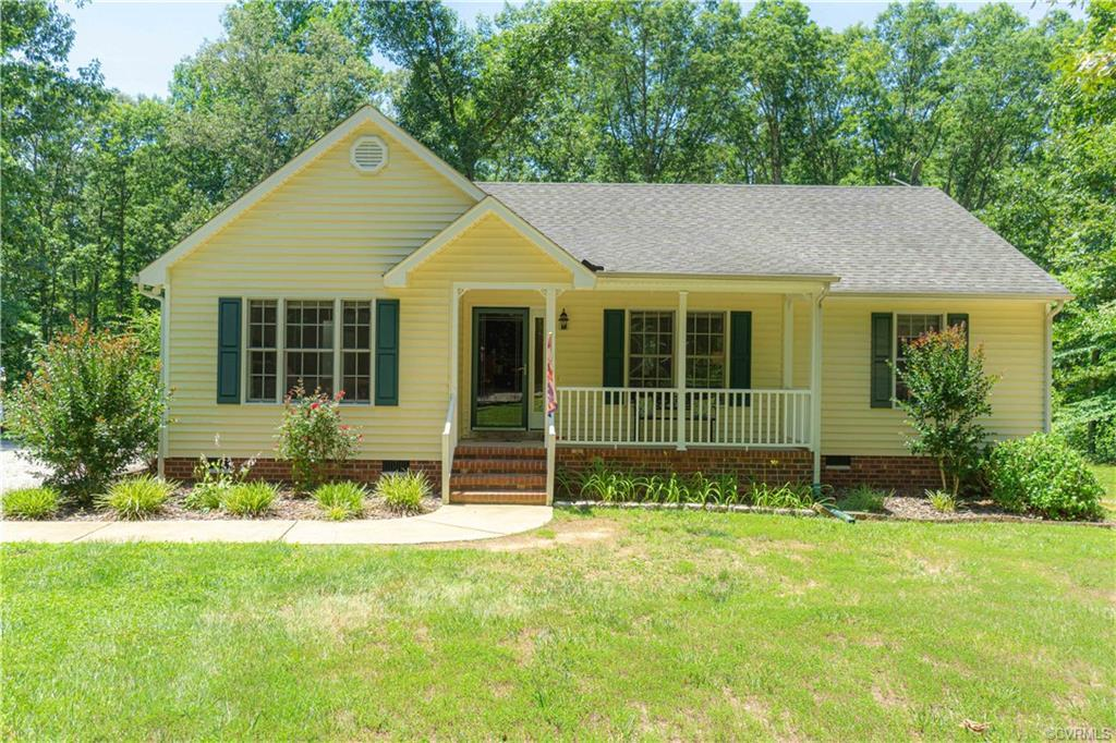 """You are going to """"LOVE"""" this 3 bedroom, 2 bath Ranch Home situated on a private 2.3 acres in Powhata"""