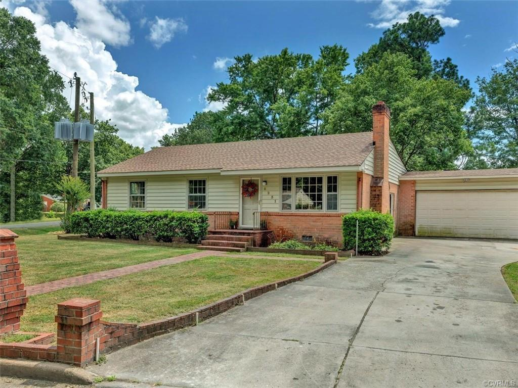 Move-in ready 3 bed, 1.5 bath, brick ranch w/ two car attached garage. Beautiful hardwoods. New kitc