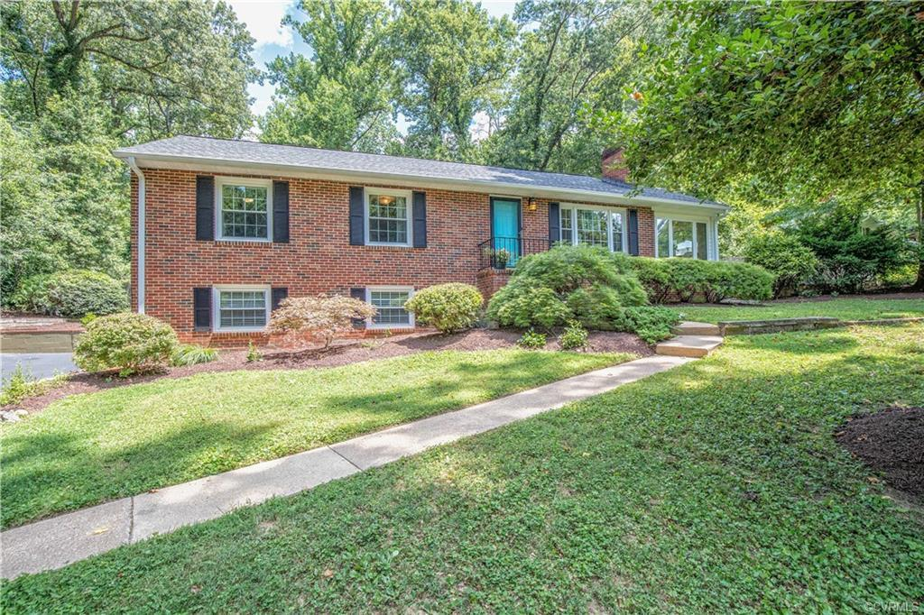 This brick ranch with finished basement is located off Huguenot Road near Larus Park and the James R