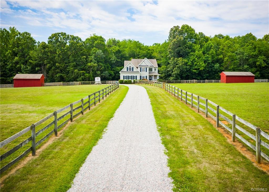LOOK NO FURTHER..HORSE READY IN CENTRAL POWHATAN ON 10.29 ACRES. Over 3,000 Square Feet Of Living Wi