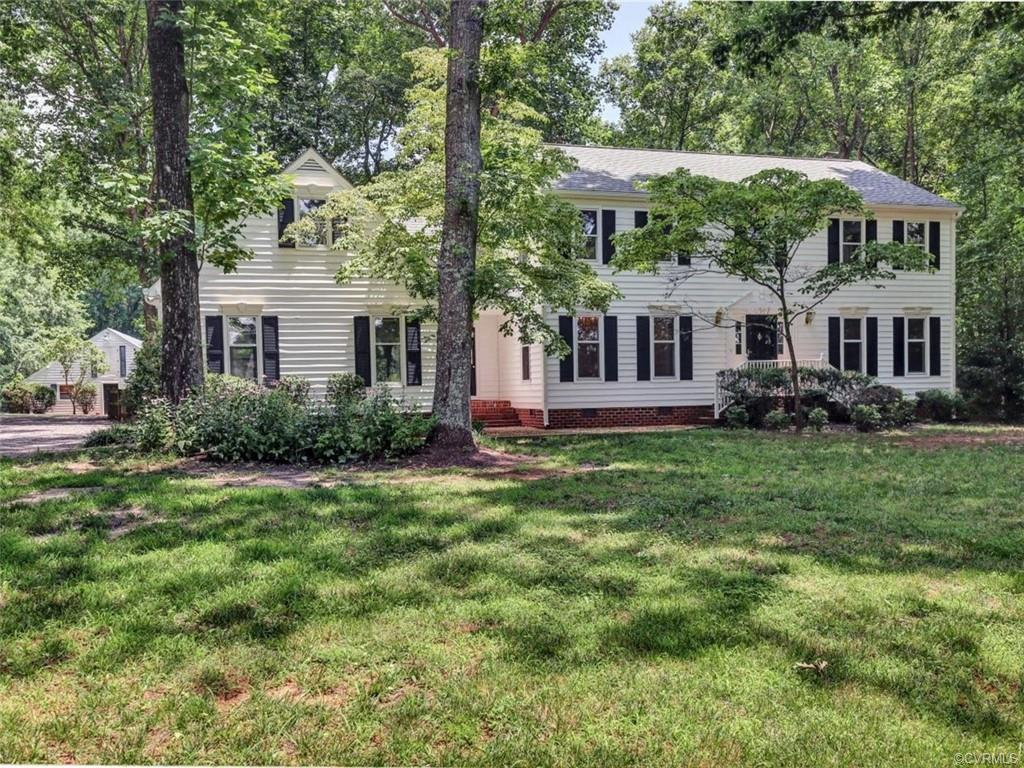 5 Miles to Short Pump!!!  Immaculate 2 Story, Move In Ready!!  2.5 Park Like Acres!!  Private!!  Quiet!!  Over 3,000 SF with Attached 2 Car Garage!!  48 x 36 Barn w/3 stalls / Finished Heated & Aired Office/Man Cave / Tack/Feed Room / Large Area to train dogs or work on cars / Attached Shed!!  Horse Welcomed!!  Large Fenced Backyard!!  Updated Gourmet Kitchen, Stainless Steel Appliances, WOLF Gas Stove - 4 Burner with Grill, GE Profile Double Oven/Microwave/Convection, Samsung Db Door Fridge w/Bottom Freezer, Pantry Cabinet w/pullout drawers, Granite Counters, Eat-In w/Bay Window overlooking 2 Tiered Deck, plus Hot Tub!!  Great Room includes Wood Burning Fireplace with Gas Logs, Recessed Lights, Atrium Door to Deck and Hot Tub!!  Large Formal Dining Room with all the Trim!  Private Master Suite w/ Updated Bath,includes Large Shower with Double Shower Heads / Large Walk-In Closet, plus 2 Double Closets, also a Morning Room, ideal for 2 Offices or Exercising Room!!! Beautiful Updated Hall Bath and 3 Bedrooms!!  COMCAST!!!  Ideal Home, Ideal Location!!!  Check out the matterport Doll House Tour!!    Enjoy!!!