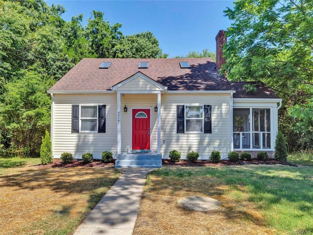 Charming Cape with amazing renovations throughout! Eat-in kitchen with hardwood floors, recessed lig