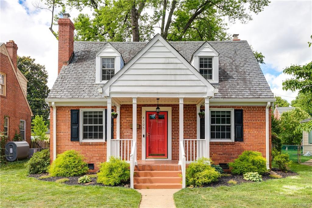Picture-perfect all-brick 3 BD 2 BA cape cod with slate roof! This pretty move-in ready home is in a
