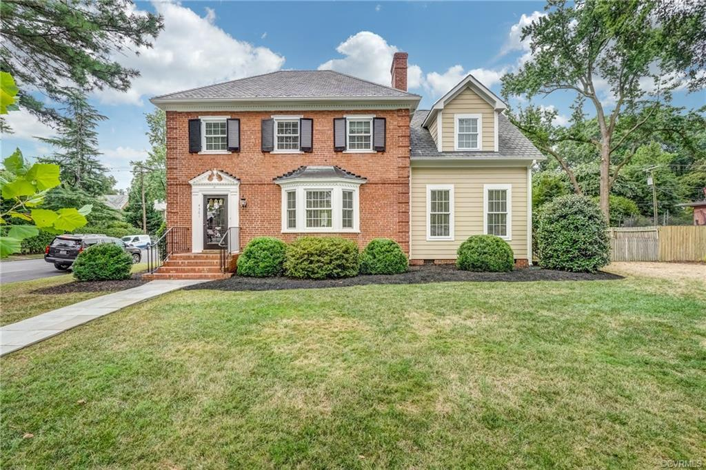 Come see this absolutely immaculate brick and slate colonial on a double lot with a perfectly integr