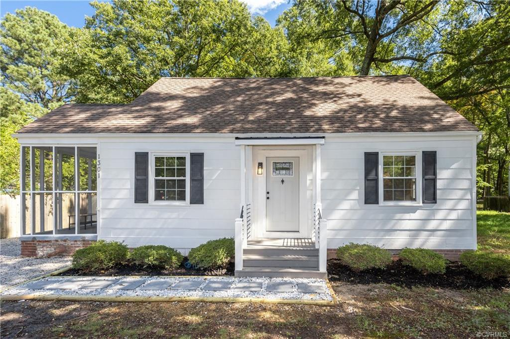 Amazing renovation is the Raleigh Court subdivision. This charming 3 bedroom 2 full bath home has am
