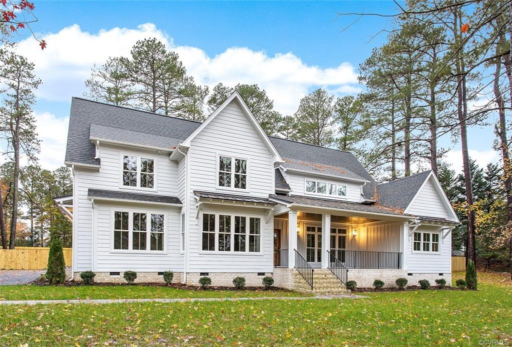 BRAND NEW MODERN FARMHOUSE  Hidden Treasure in a park like setting with towering pine trees and vast
