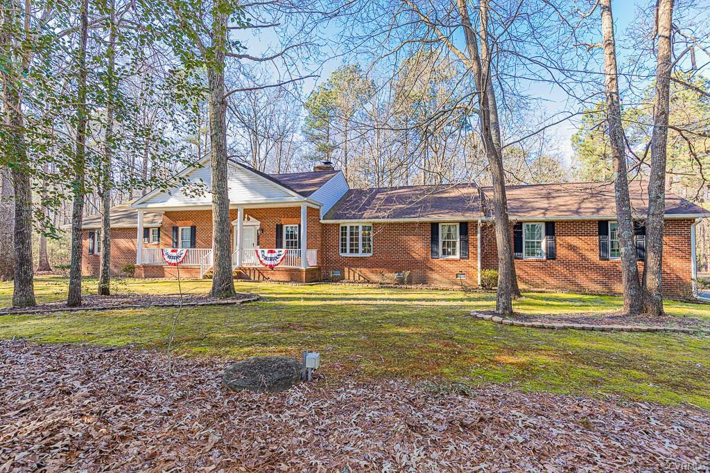 Welcome to this custom built, one owner, all brick rancher on 4 acres with a pond! Come fish for bas