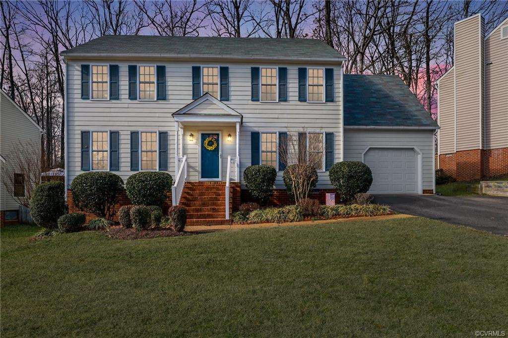 Adorable WOODLAKE Colonial boasts UPDATES GALORE!!  Living Rm works for virtual learning or formal s