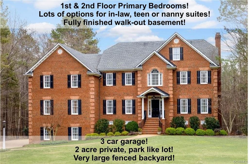 You will love this stately 3 sides brick home nestled on a parklike 2 ac lot in a premier gated neig