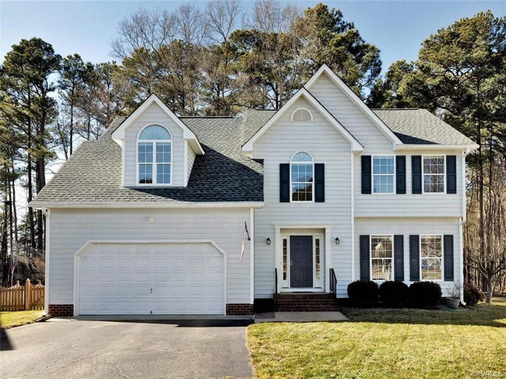 Fantastic custom built home backs up to wooded natural area and Tuckahoe Ball Fields in the distance